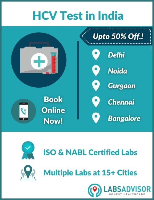 Lowest HCV test cost in India!