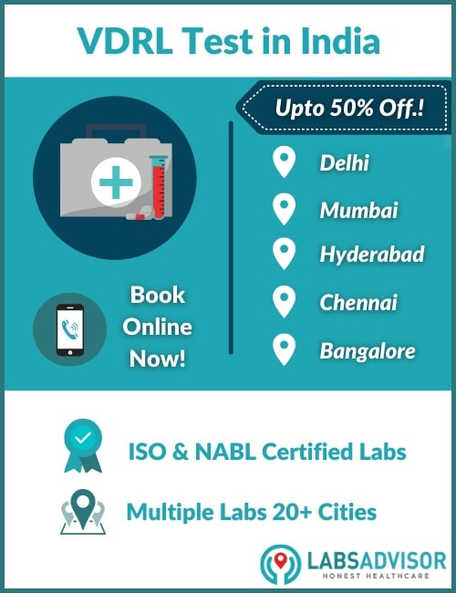 Lowest VDRL Test Cost in India!