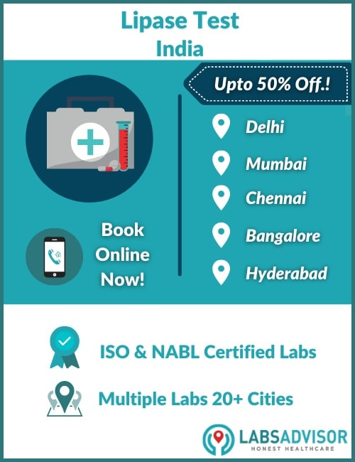 Lowest Lipase Test Cost in India!