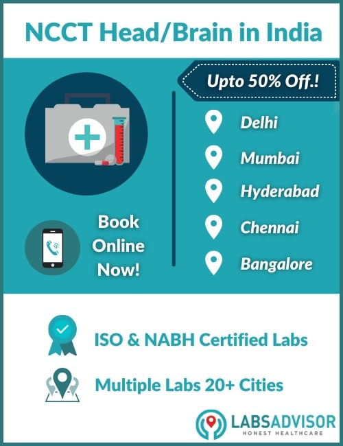 Lowest NCCT Head/Brain Test Price in India!