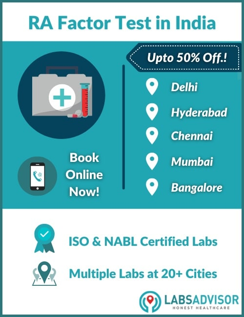 Lowest RA Factor test price in India!
